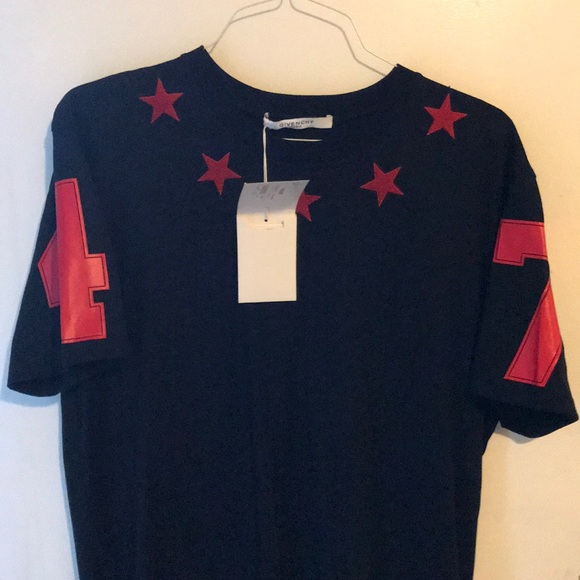 Givenchy red star collar tee 8ba9449eb99a